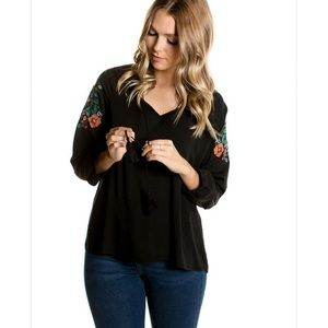 orb Tops - Liv Embroidered Blouse